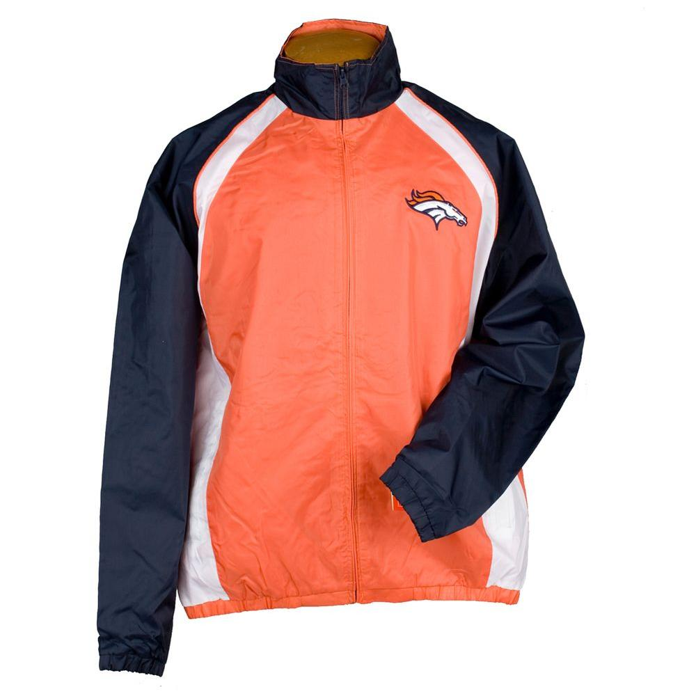 3G NFL Licensed Broncos Lightweight Full Zip Size XXL