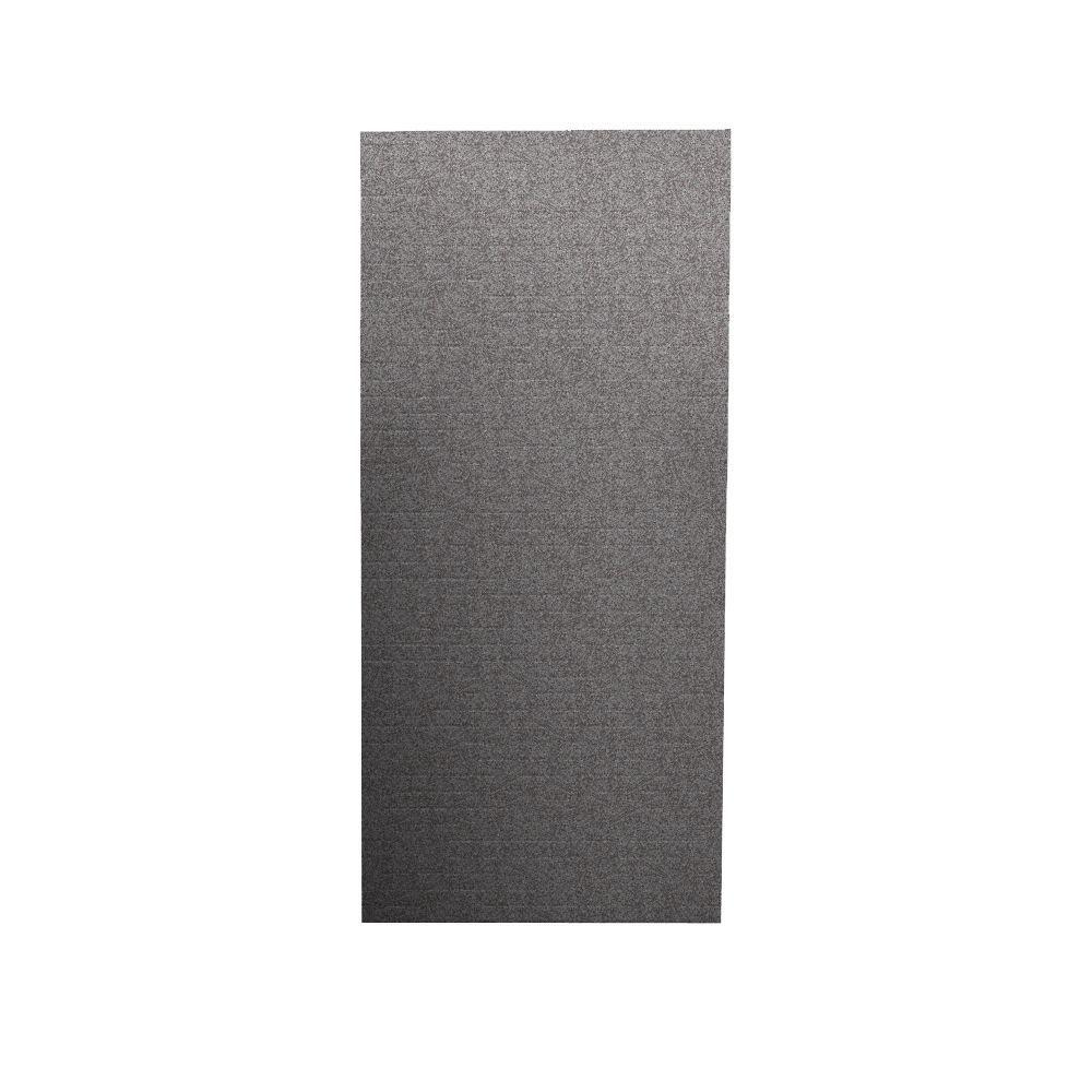 Swanstone Geometric 1/4 in. x 36 in. x 96 in. One Piece Easy Up Adhesive Shower Wall in Purple Sage-DISCONTINUED
