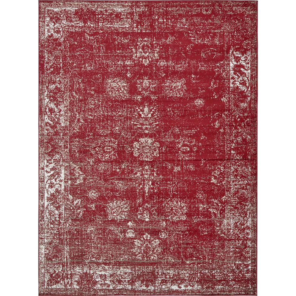 Unique Loom Monaco Burgundy 9 Ft X 12 Ft Area Rug