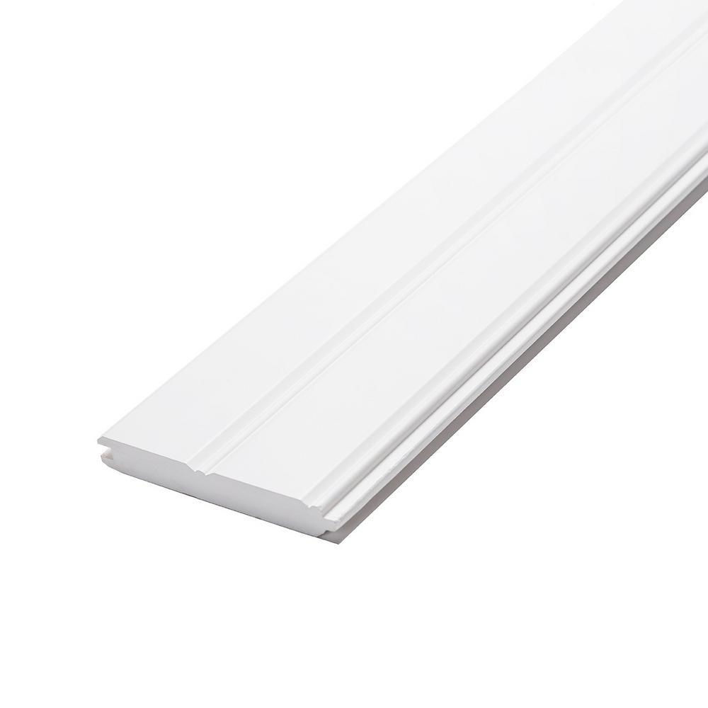 1 in. x 6 in. x 8 ft. Radiata Pine Primed Finger-Joint Edge and Center Bead Panel (6-Pack)