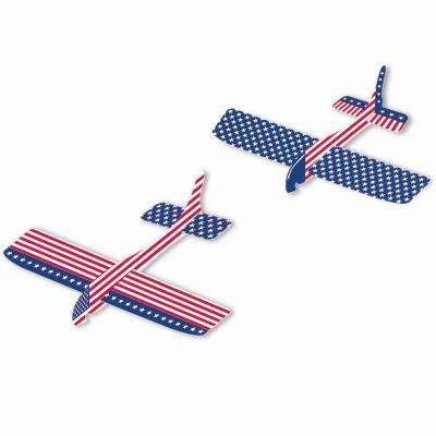 7.875 in. x 8.875 in. Patriotic Gliders (12-Count, 2-Pack)