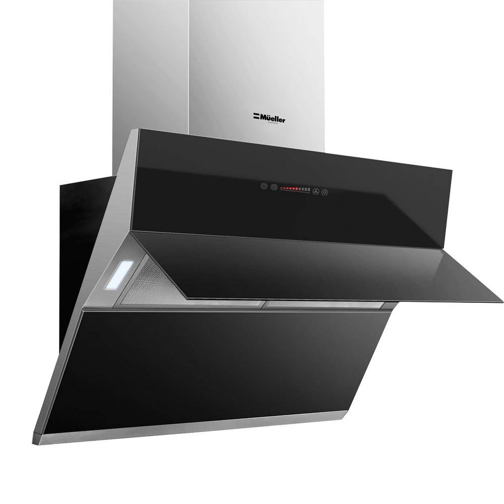 Mueller austria mueller deluxe 36 in high air flow wall mount oven range hood