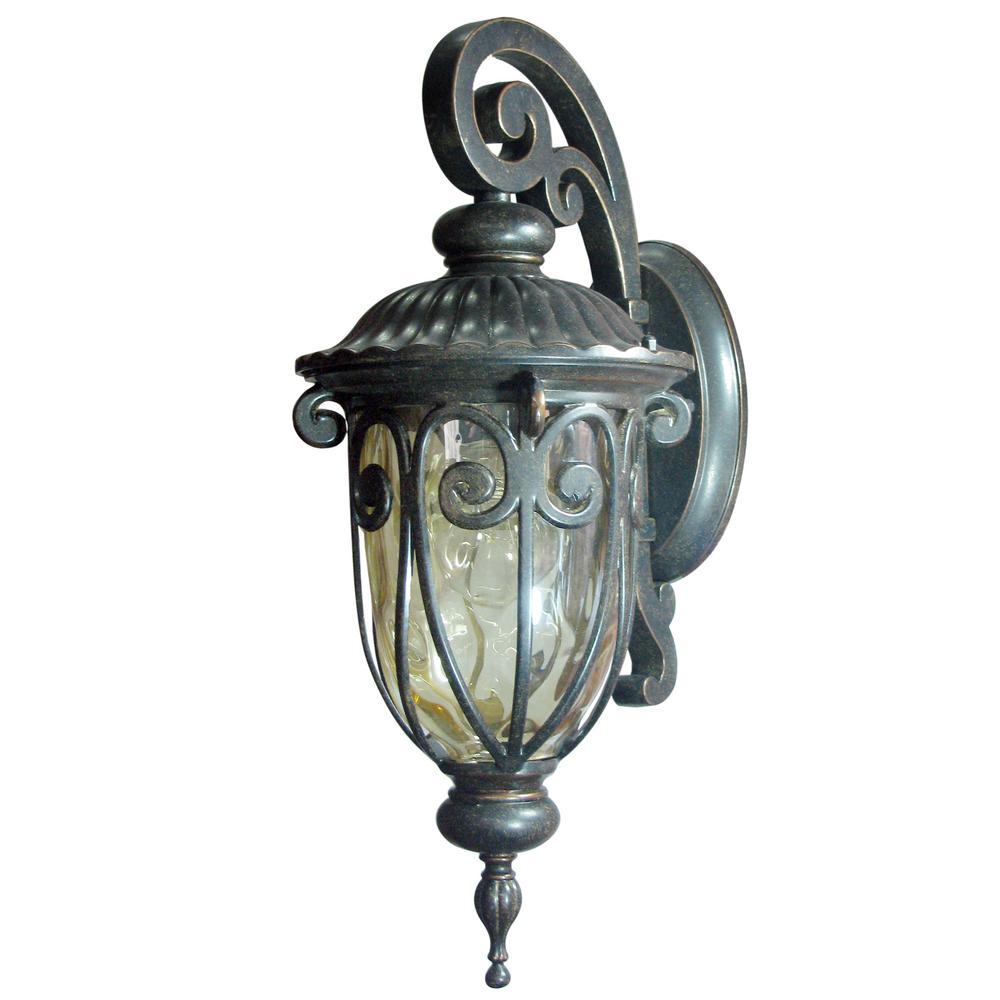 Hailee 1-Light Oil-Rubbed Bronze Outdoor Wall Lantern Sconce
