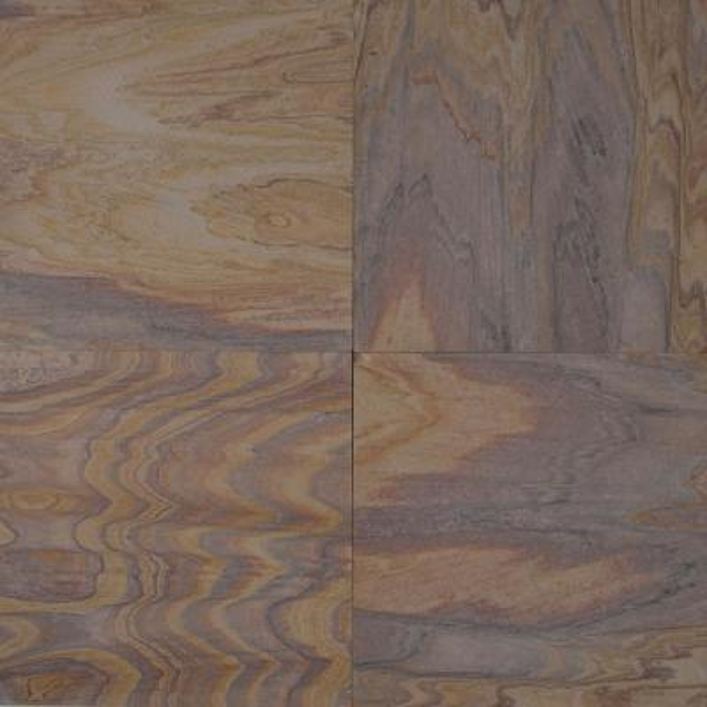 Rainbow Teakwood 12 in. x 12 in. Honed Sandstone Floor and Wall Tile (10 sq. ft. / case)