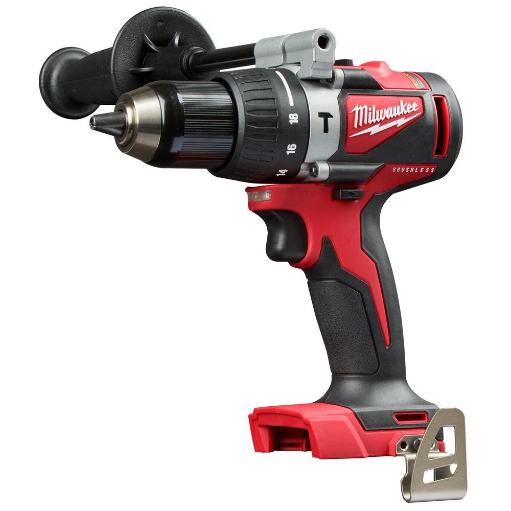 """Brand New Milwaukee 2902-20 M18 Brushless 1//2/"""" Hammer Drill Bare Tool"""