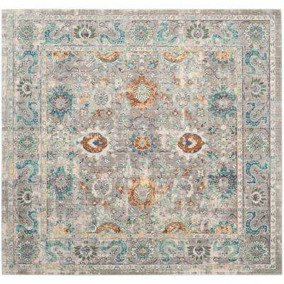 Mystique Gray/Multi 6 ft. 7 in. x 6 ft. 7 in. Square Area Rug