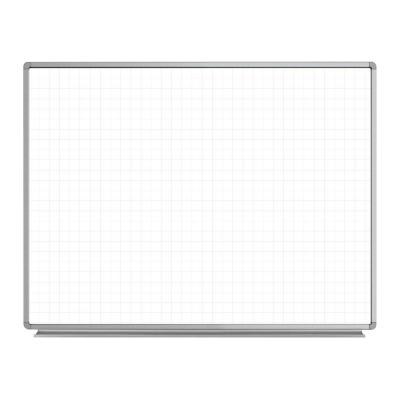 Lean Board 48 in. x 36 in. Wall-Mounted Whiteboard Magnetic Ghost Grid White (1-Pack)