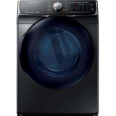 7.5 cu. ft. Gas Dryer with Steam in Black Stainless, ENERGY STAR