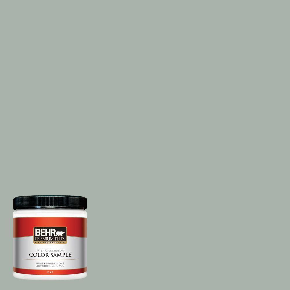 BEHR Premium Plus 8 oz. #BXC-38 Alpine Air Interior/Exterior Paint Sample
