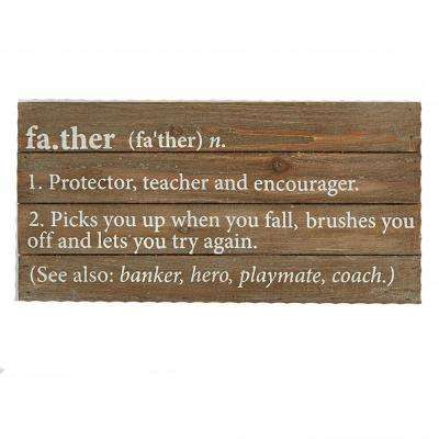 Father Definition Plaque Wall Art