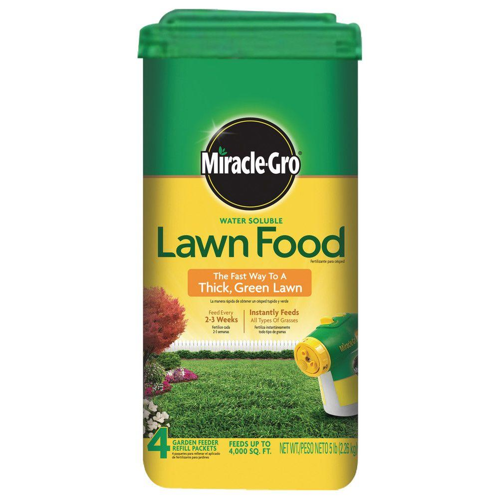 Miracle Gro 5 Lb 4 000 Sq Ft Water Soluble Lawn Fertilizer