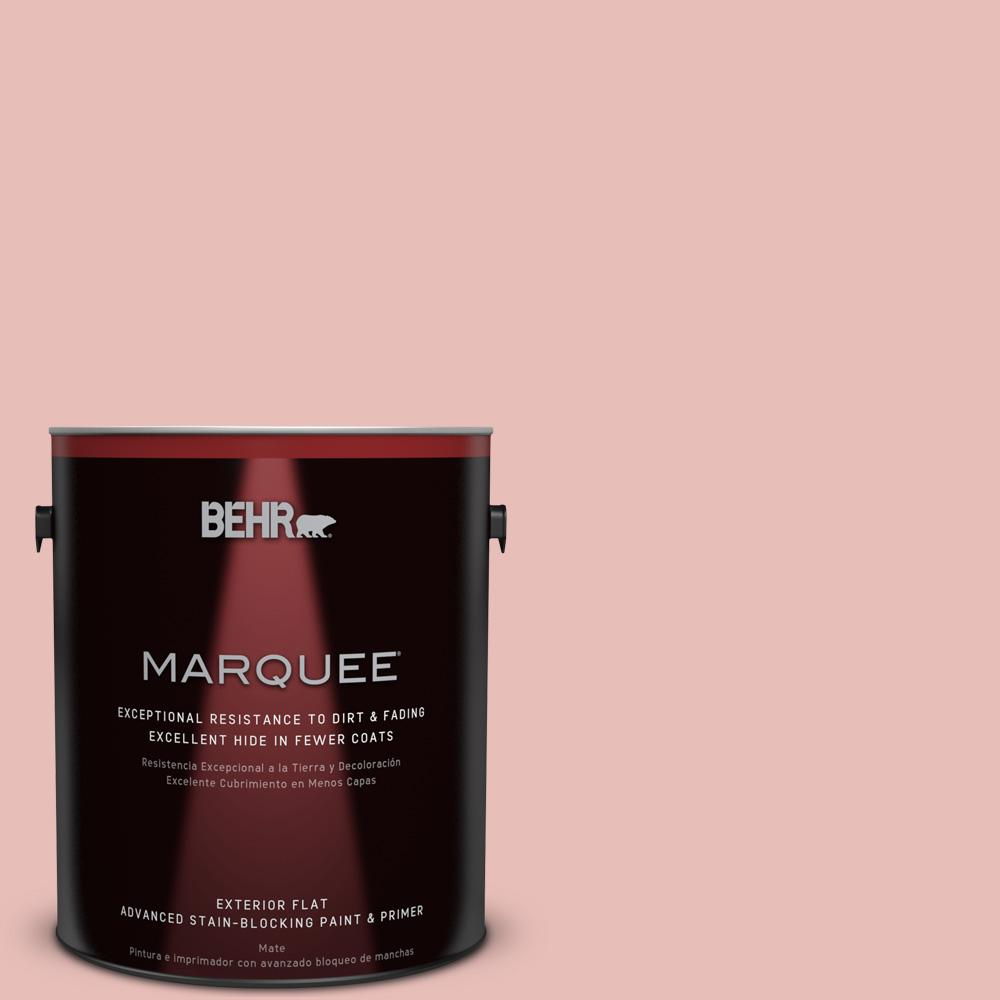 1 gal. #T18-01 Positively Pink Flat Exterior Paint