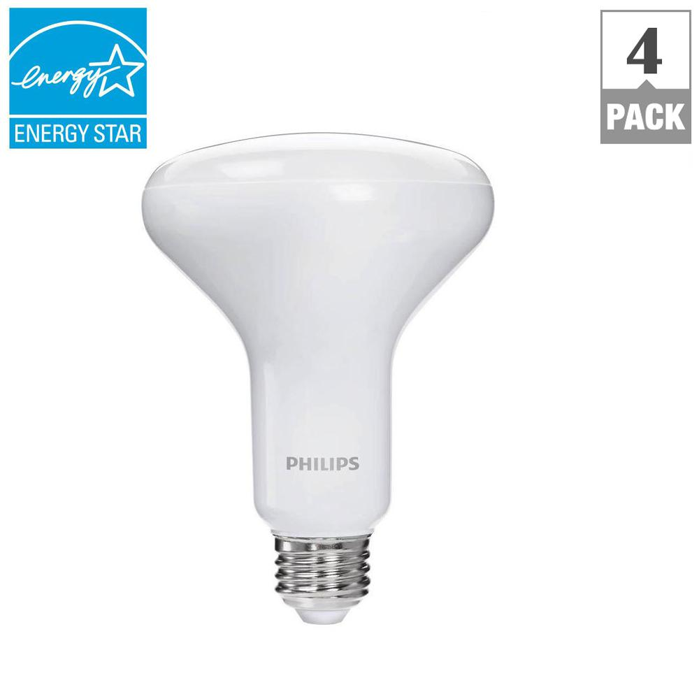 Philips 65 Watt Equivalent BR30 Dimmable LED Soft White With Warm Glow  Effect (E