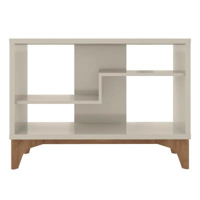 Watkins Off White Modern Accent Display Sideboard with 2-Shelves