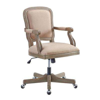 Fiona Rustic Brown Office Chair