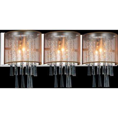 Renee 3-Light Chrome Sconce