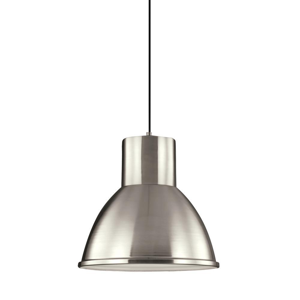 Division Street 1-Light Brushed Nickel Pendant