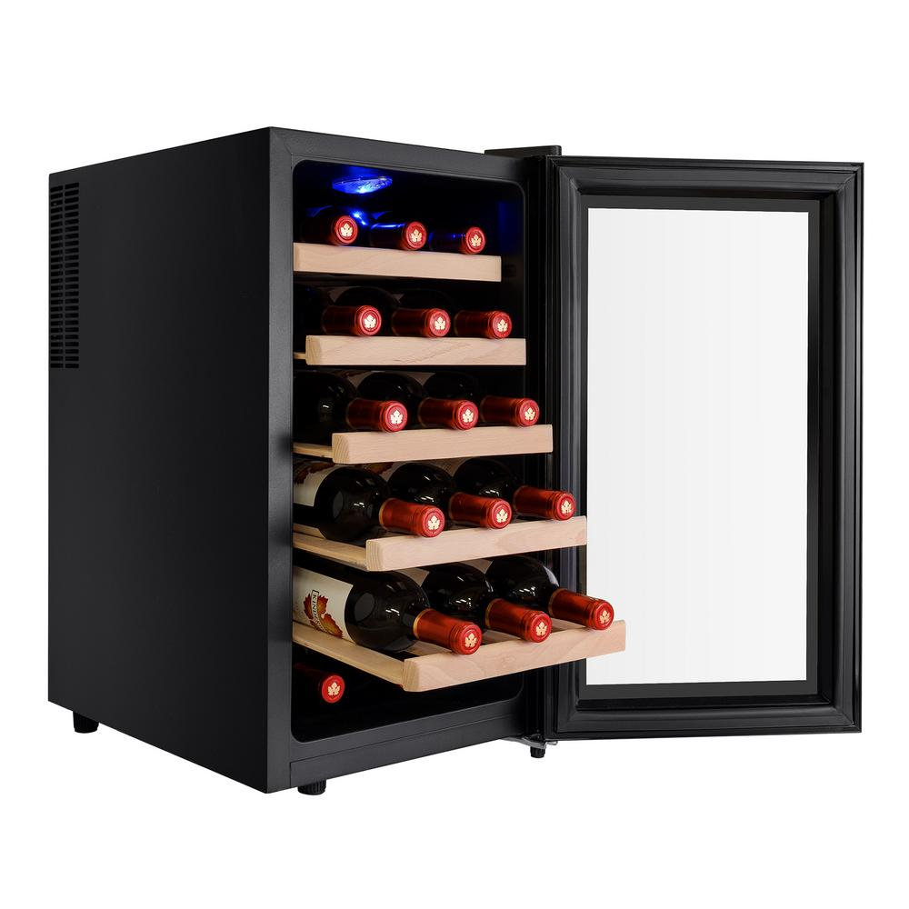Akdy 18 bottle single zone thermoelectric wine cooler in for Modern homes 8 bottle wine cooler