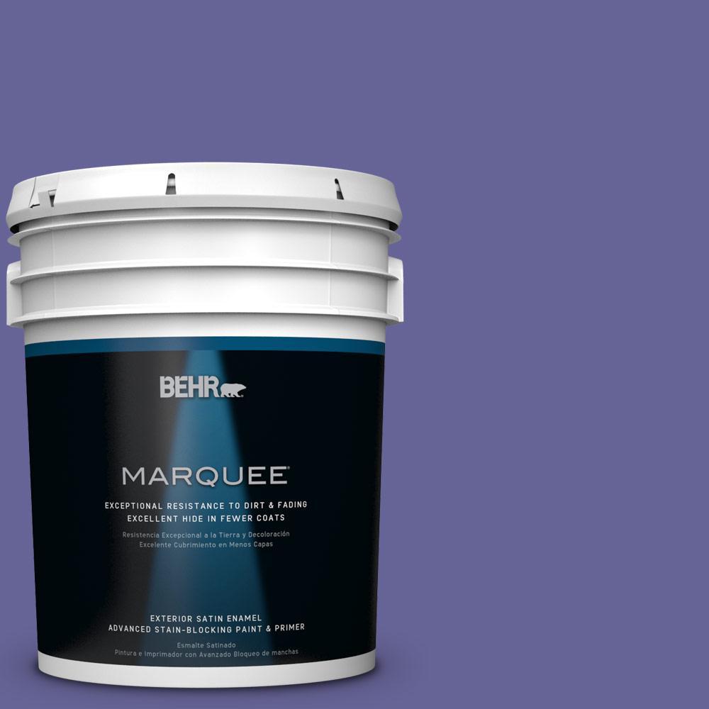 5 gal. #T15-13 Prime Purple Satin Enamel Exterior Paint