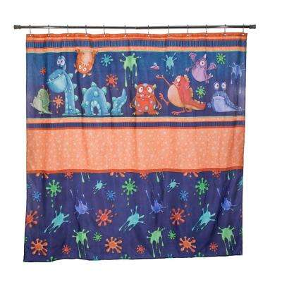Monster Splat 72 in. Splats Shower Curtain