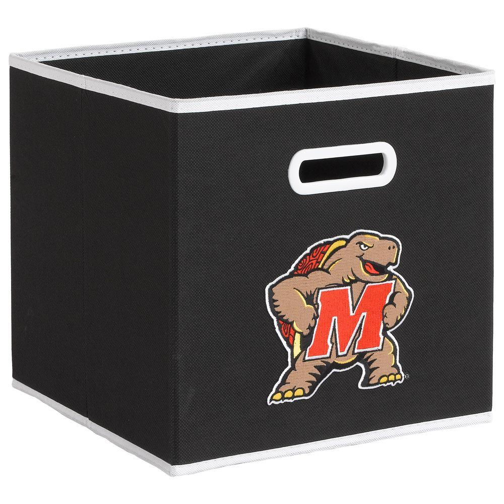 null College STOREITS University of Maryland 10-1/2 in. W x 10-1/2 in. H x 11 in. D Black Fabric Storage Bin