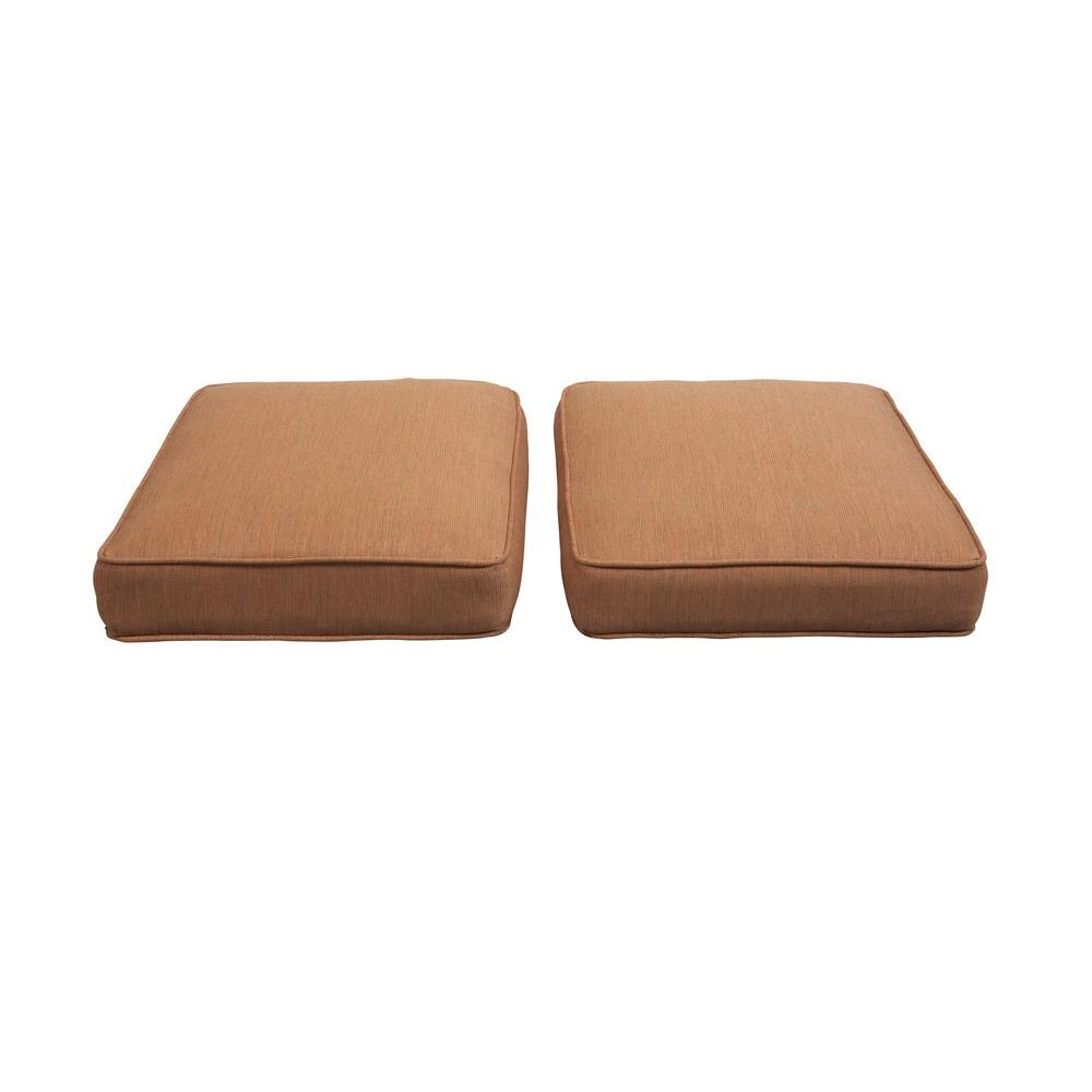 Hampton bay niles park replacement outdoor ottoman cushion 2 pack s2 zzh01599 the home depot