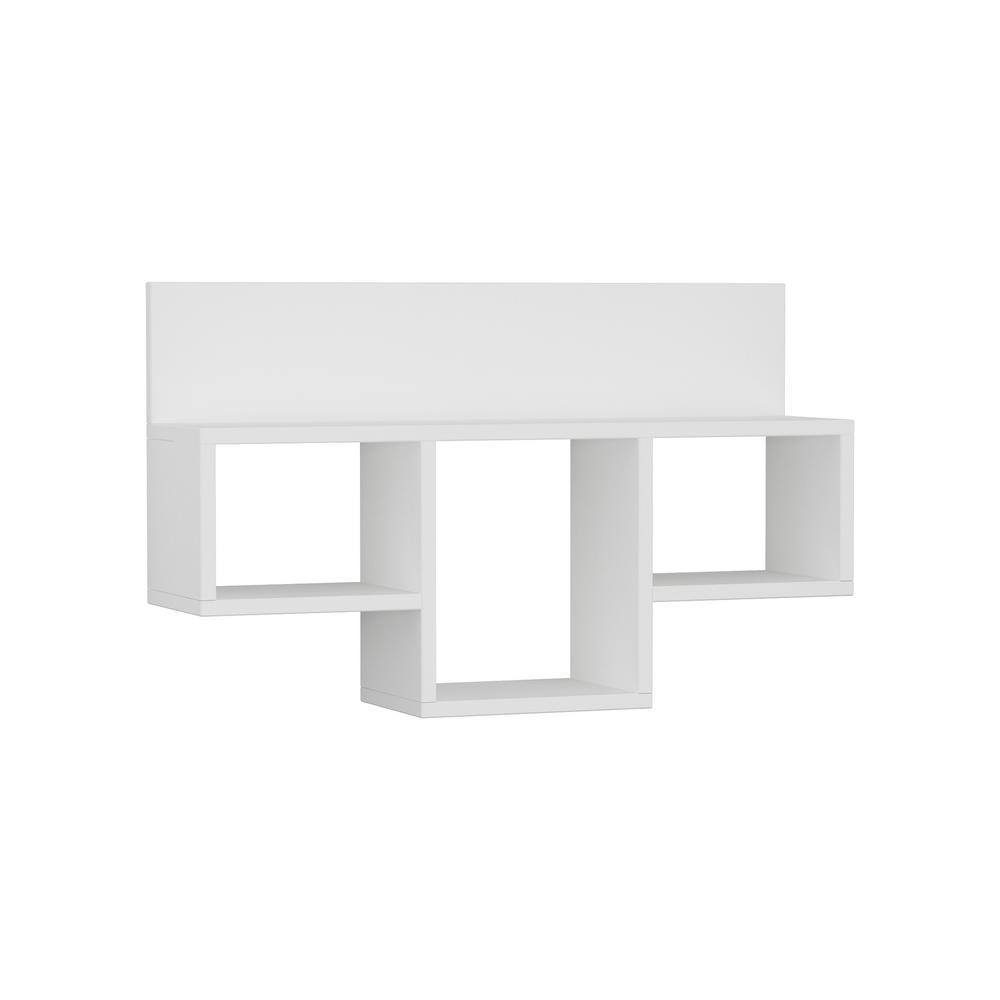 Ada Home Decor Warrington White Modern Wall Shelf DCRW2411