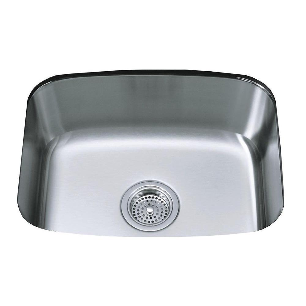 KOHLER Undertone Undercounter Undermount Stainless Steel 16.25 in. 0 hole  Single Basin Kitchen Sink