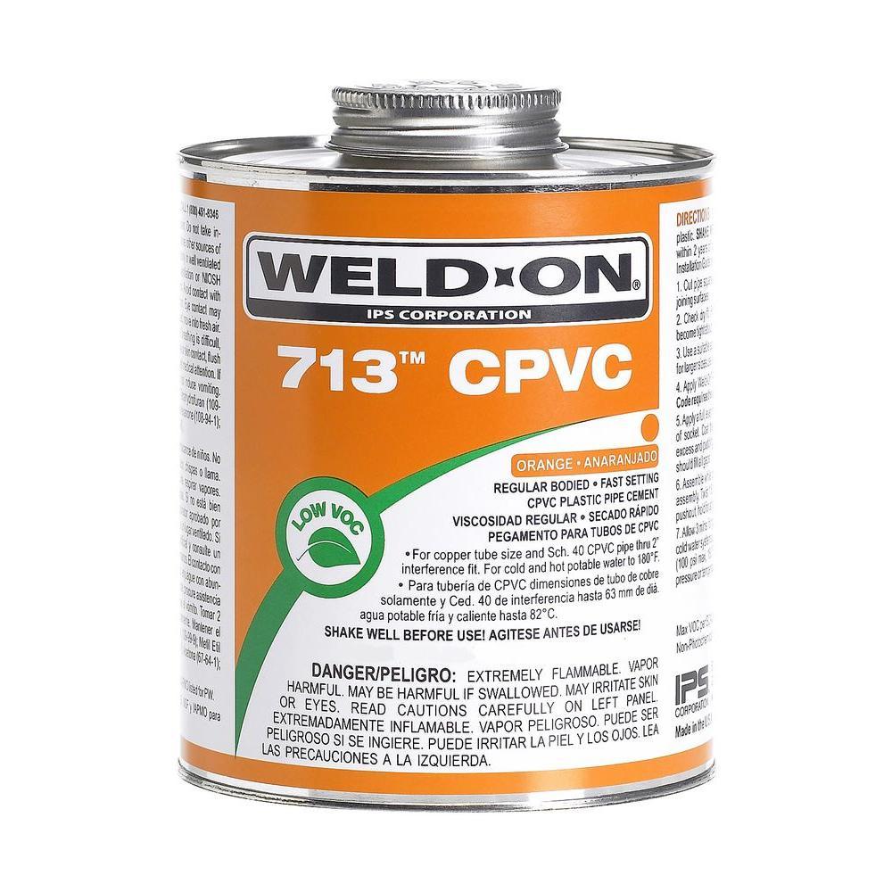 8 oz. CPVC 713 Low VOC Cement - Orange