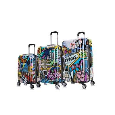 Prints Lightweight Hardside Spinner 3-Piece Set 20 in.,24 in.,28 in. Cities