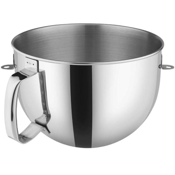 4a4e91d70b41 KitchenAid 6 Qt. Bowl Polished Stainless Steel with Comfort Handle for Bowl- Lift Stand