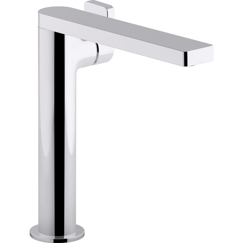 Tall Vessel Sink Faucet.Kohler Composed Single Hole Single Handle Tall Vessel Bathroom Faucet With Lever Handle And Drain In Polished Chrome