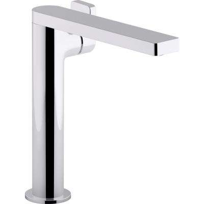 Beau Composed Single Hole Single Handle Tall Vessel Bathroom Faucet With Lever  Handle And Drain