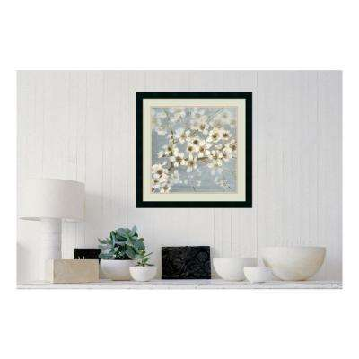 24 in. W x 24 in. H 'Silver Blossoms II' by Elise Remender Printed Framed Wall Art