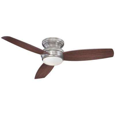 Traditional Concept 52 in. Integrated LED Indoor/Outdoor Pewter Ceiling Fan with Light with Wall Control