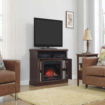 Windsor 46.25 in. Dual Entertainment Electric Fireplace in Midnight Cherry
