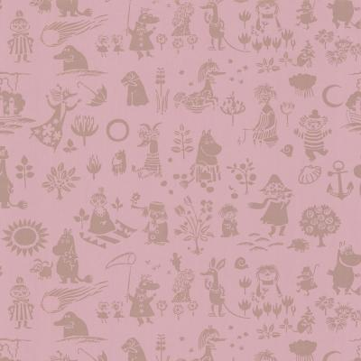 Moomin Pink Novelty Wallpaper