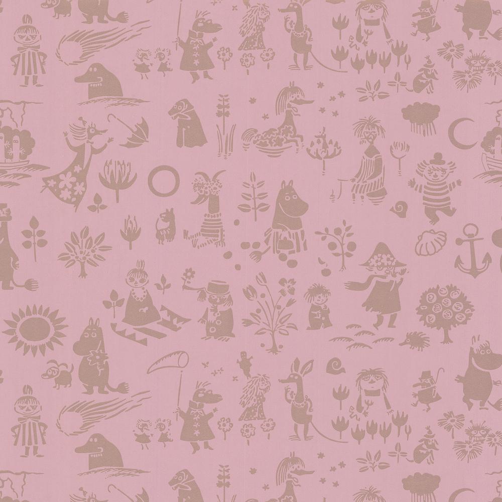 Moomin Pink Novelty Wallpaper