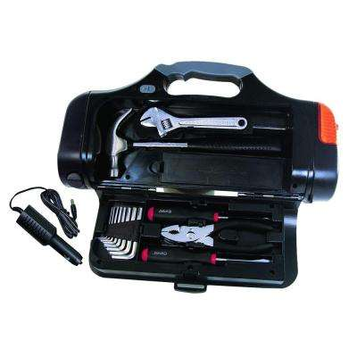 Auto Emergency Tool Kit with Flashlight (13-Piece)