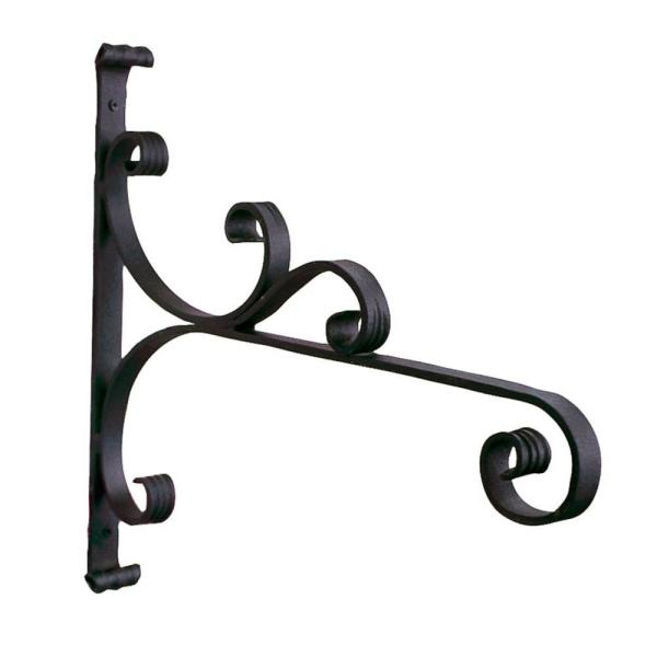 18 in. W Large Black Powder Coat Iron All-Purpose Traditional Style Bracket