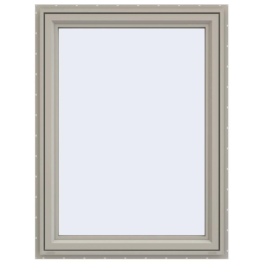 35.5 in. x 47.5 in. V-4500 Series Right-Hand Casement Vinyl Window - Tan