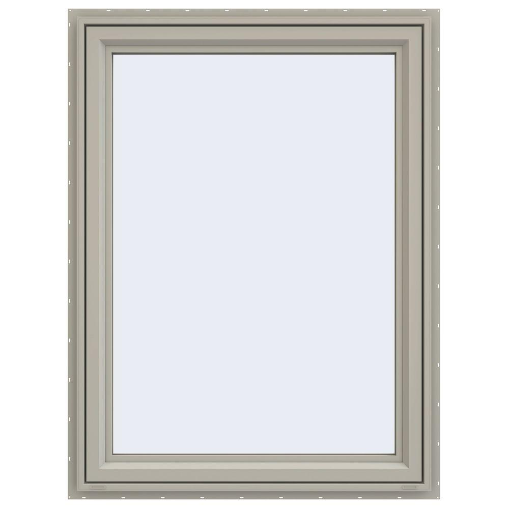 JELD-WEN 35.5 in. x 47.5 in. V-4500 Series Left-Hand Casement Vinyl Window - Tan