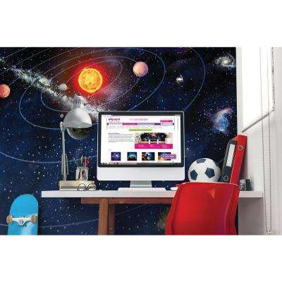 118 in. x 98 in. Solar System Wall Mural
