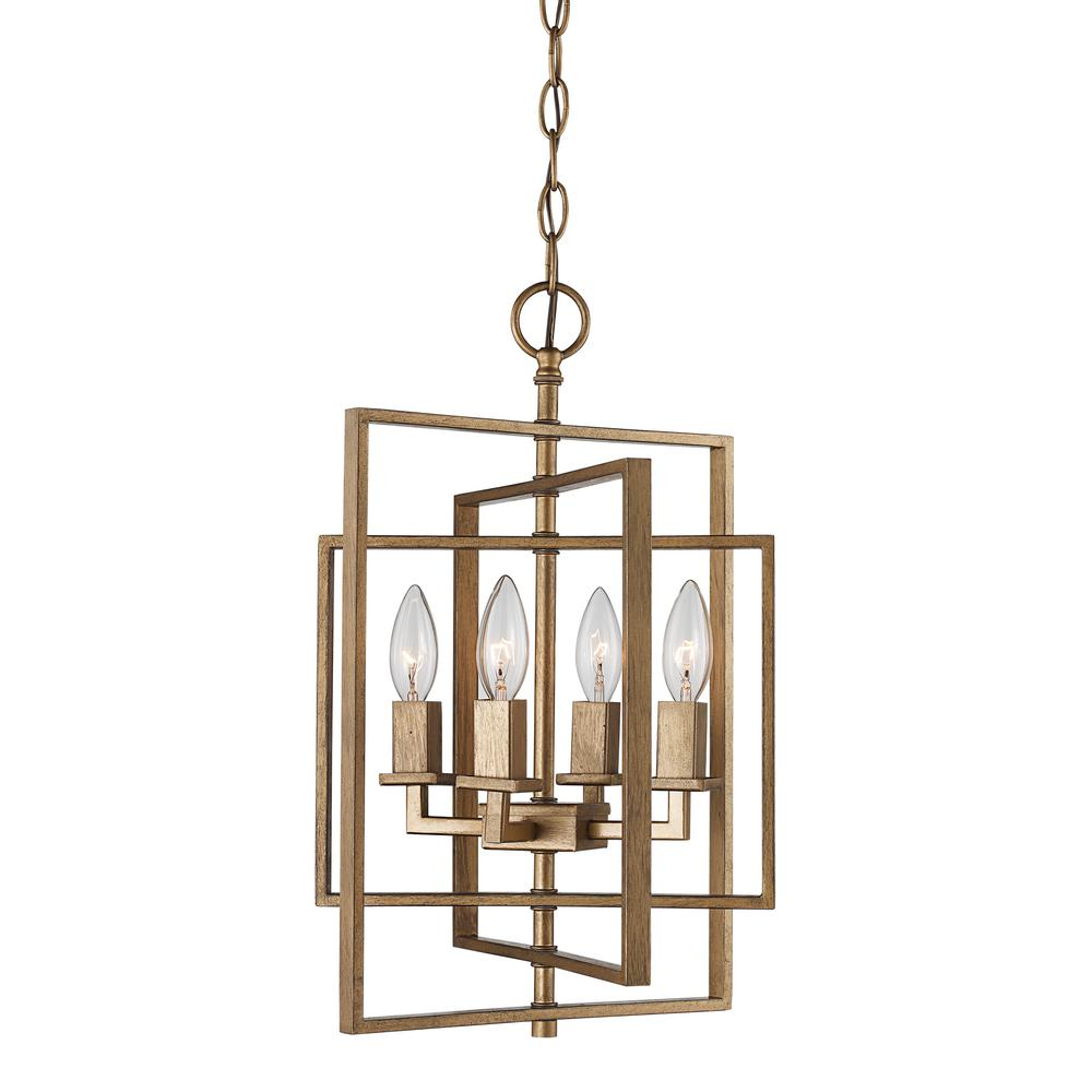 El Capitan 4-Light Antique Gold Pendant