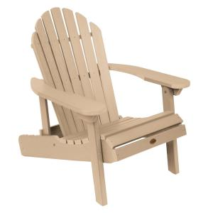 Hamilton Tuscan Taupe Folding and Reclining Plastic Adirondack Chair