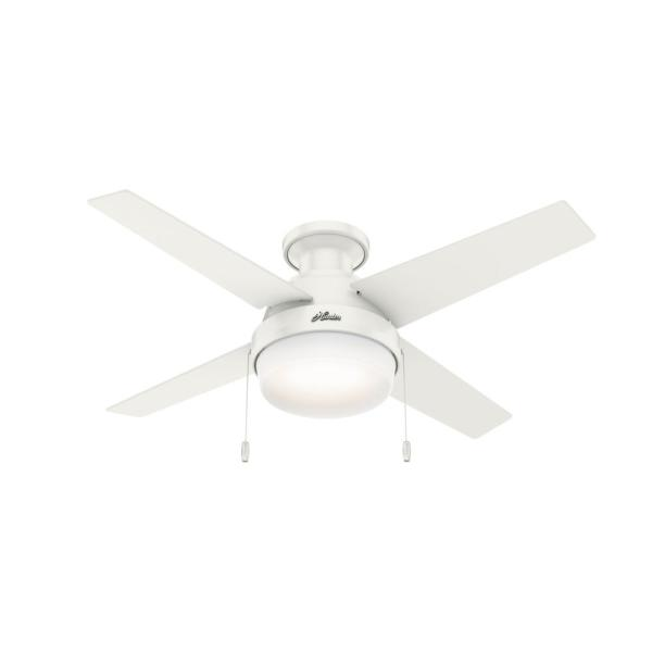 Ristrello 44 in. LED Low Profile Indoor Fresh White Ceiling Fan with Light