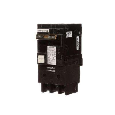 50 Amp Double Pole Type QPF GFCI Circuit Breaker