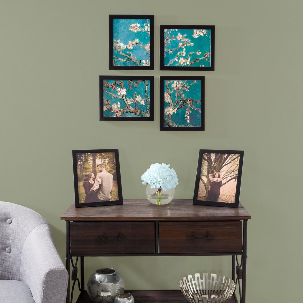 Lavish Home 8 in. x 10 in. Black Picture Frame (6-Pack)-M021010 ...