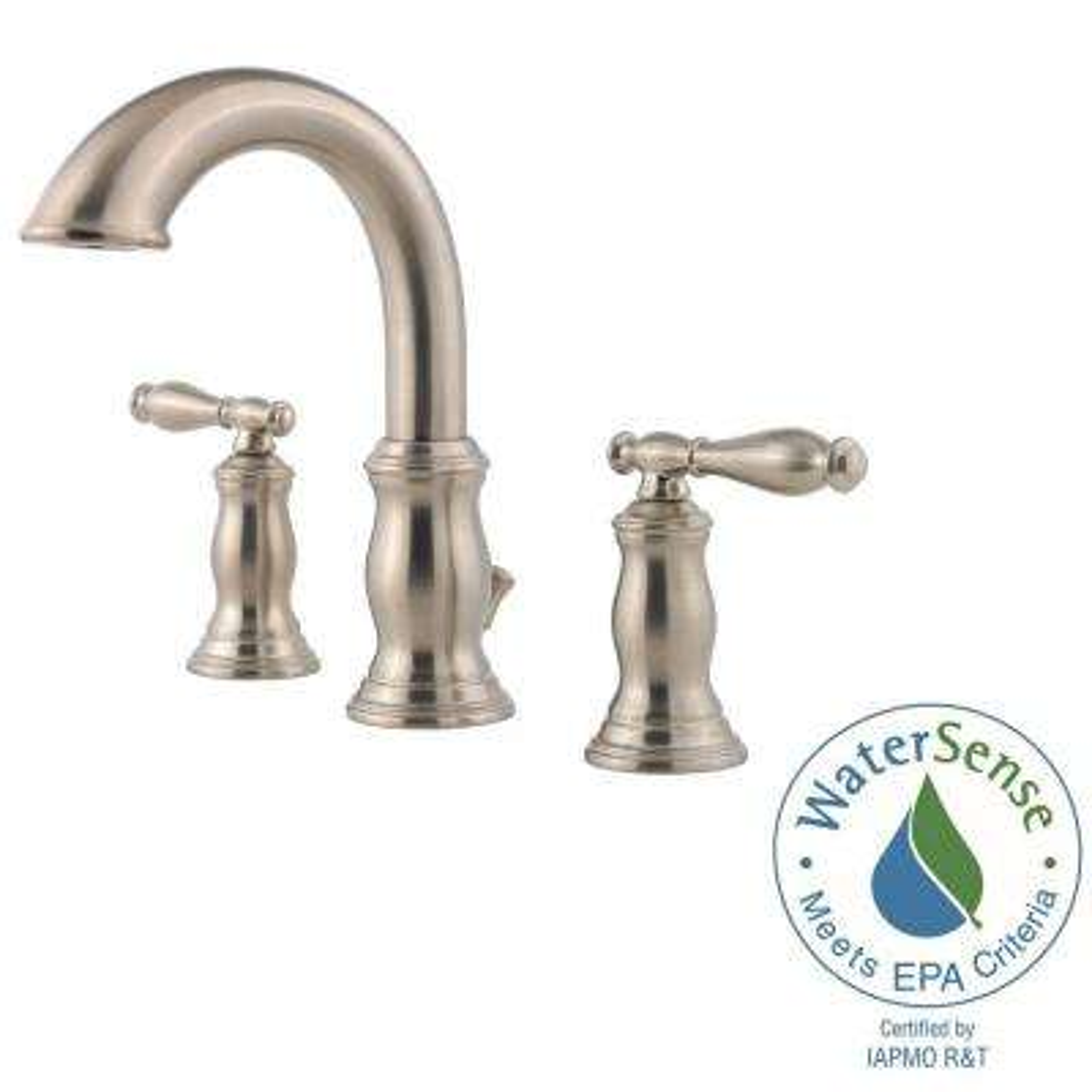 Hanover 8 in. Widespread 2-Handle Bathroom Faucet in Brushed Nickel