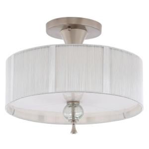 bayonne collection 3light brushed nickel ceiling semiflush mount light fixture - Semi Flush Mount Lighting